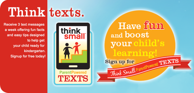 Receive 3 text messages a week offering fun facts and easy tips designed to help get your child ready for kindergarten.Signup for free today!