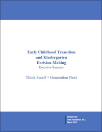 Early Childhood Transition Executive Summary