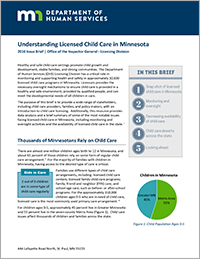 DHS, Understanding Licensed Child Care in Minnesota (2016)