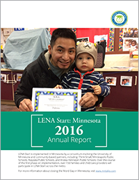 LENA Start: Minnesota 2016 Annual Report Cover Image